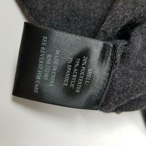 Love Token Sweaters - Love Token Charcoal Gray Slashed LS Sweater